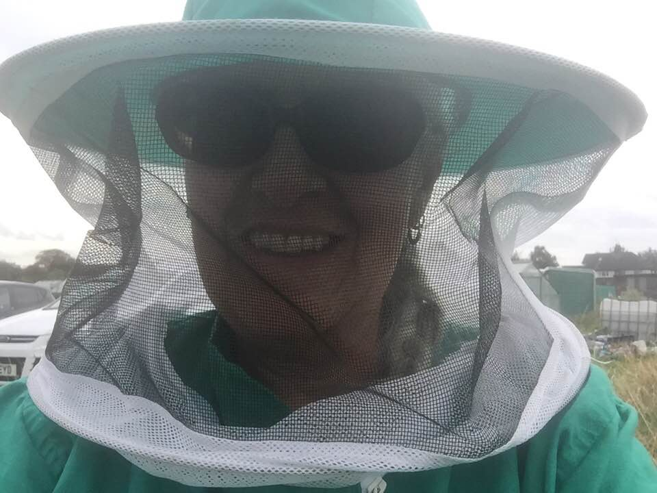 image showing bee suit